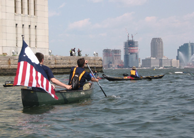 First Canoe Voyage To Governors Island
