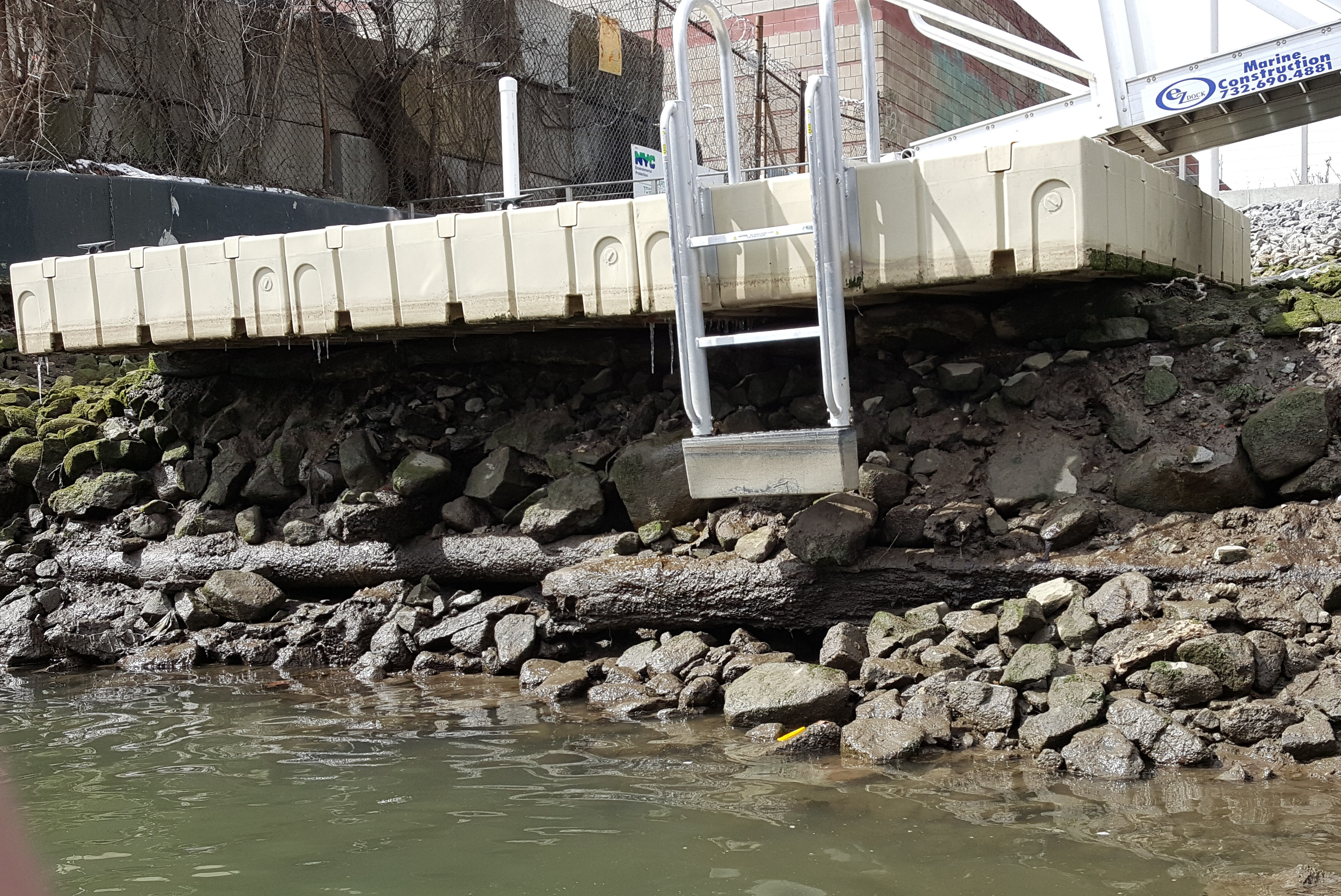 Dock at Low Tide May be Difficult to Use due to Ladder Design