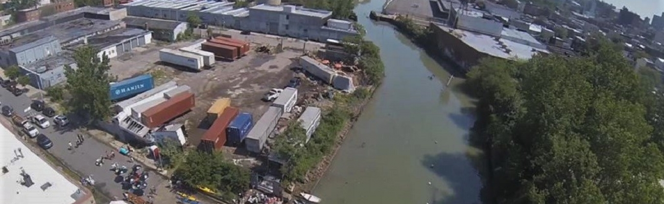 Aerial View of Races Setting Up for Gowanus Challenge 2012