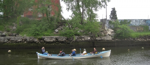 Village Community Boathouse Rowers Visiting Gowanus Canal