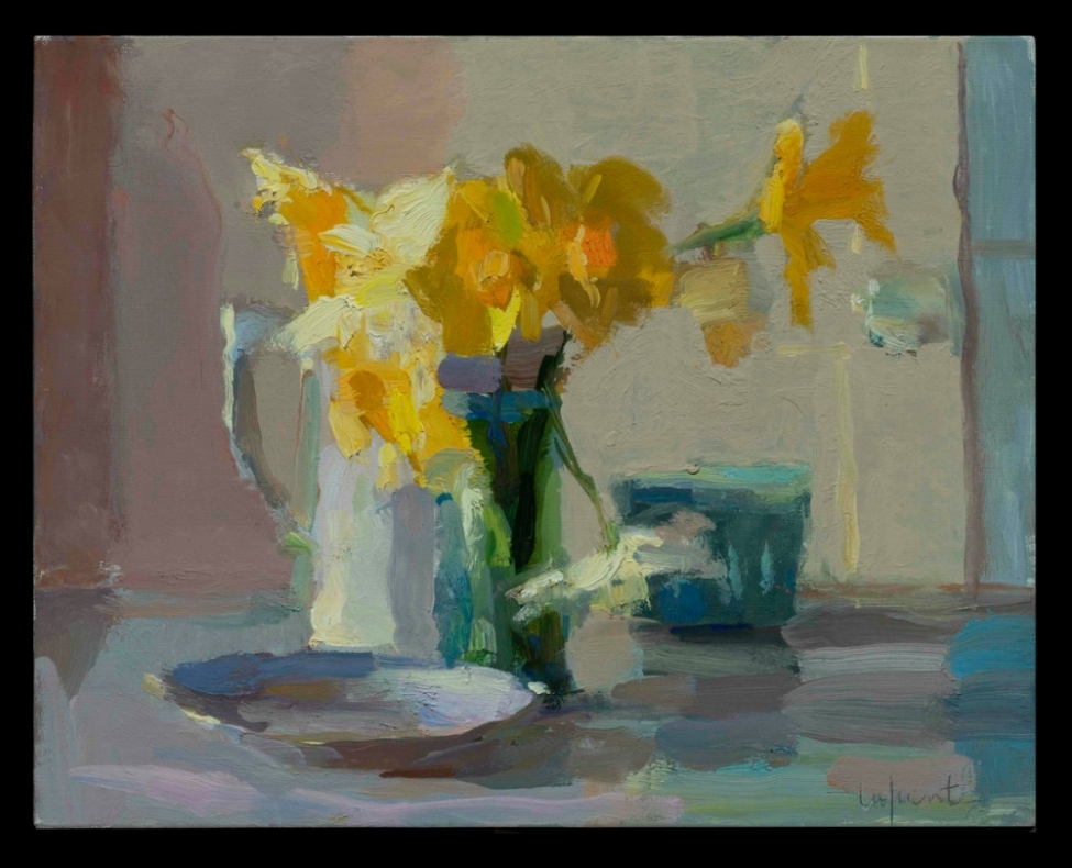 Daffodils and Berry Carton by Christine Lafuente