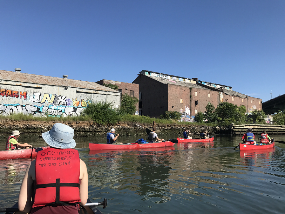 Early AM Recreation with Old Industry in the Background