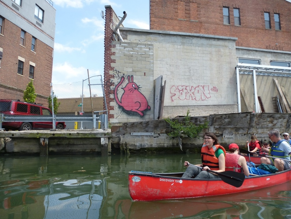 Some Gowanus Artwork can only be Seen By Water!